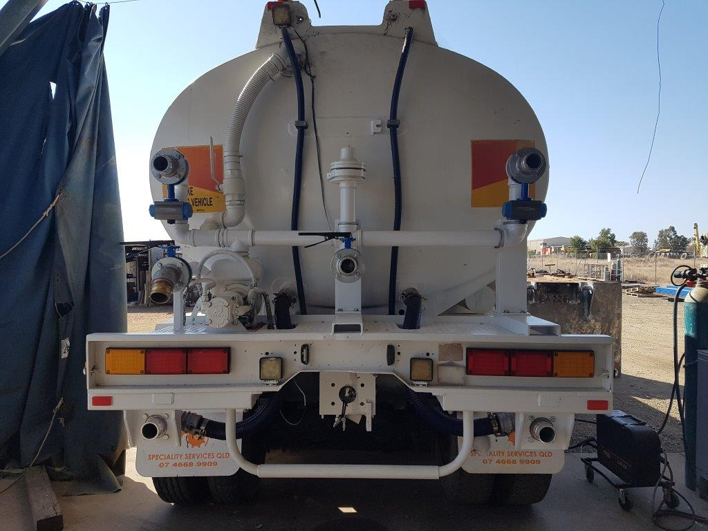 Water truck spray system